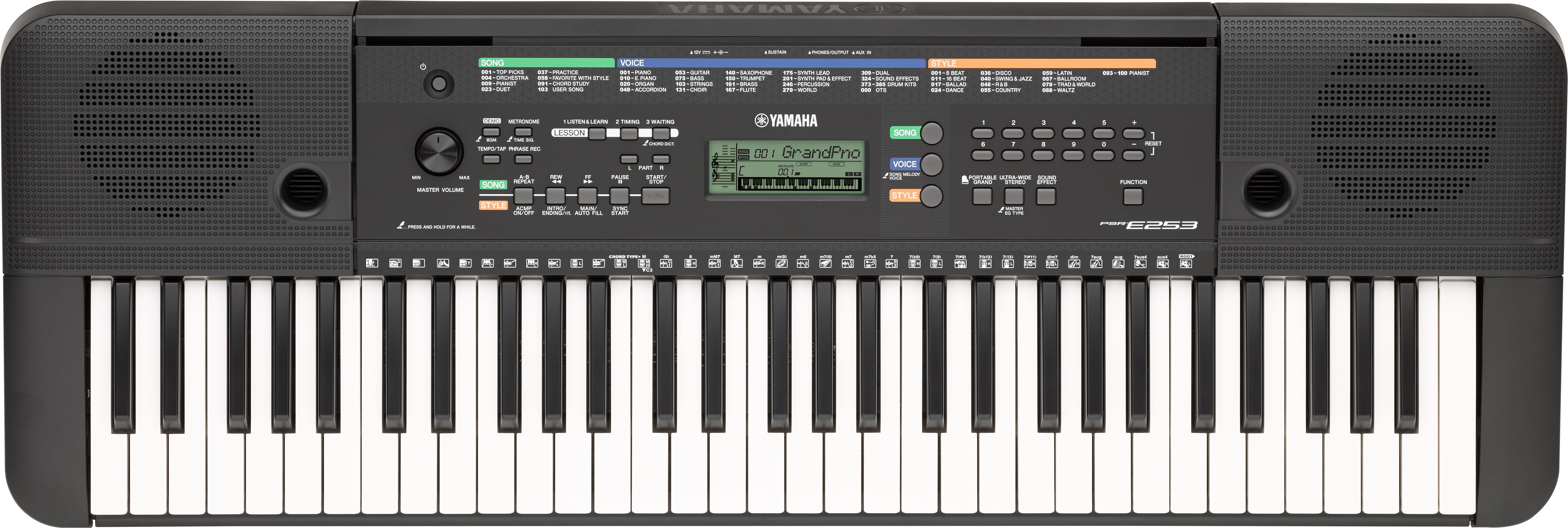 instruments clavier piano num rique yamaha psr 253. Black Bedroom Furniture Sets. Home Design Ideas