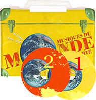 Musiques du Monde à la carte - malette + 2 CD + 1 livret + 1 jeu de cartes;
