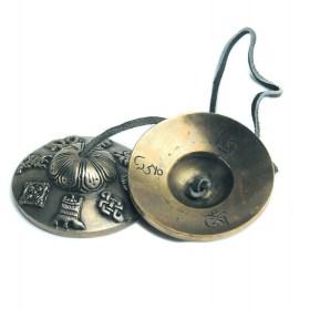 Crotales tibétaines modèle décoré : tingtchaks