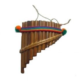 Flûte de Pan petit modèle forme incurvée