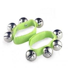 Bracelet 4 grelots en inox - La paire