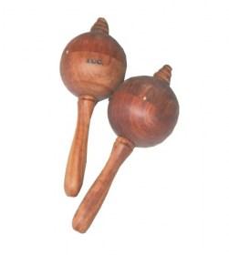 Maracas en bois pour petites mains