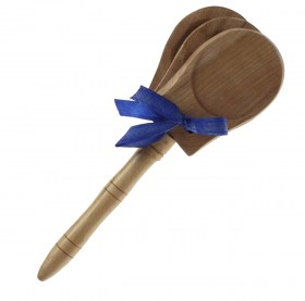 Castagnette à manche en bois