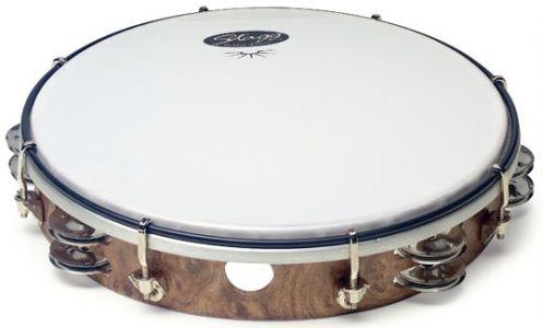 Tambourin avec double rang de cymbalettes ø 20 cm