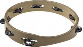 Couronne de cymbalettes 1 rangée cadre bois