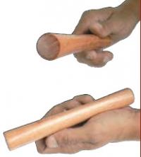 """Ambio (Claves """"2 tons"""" en eucalyptus - L = 19 cm)"""